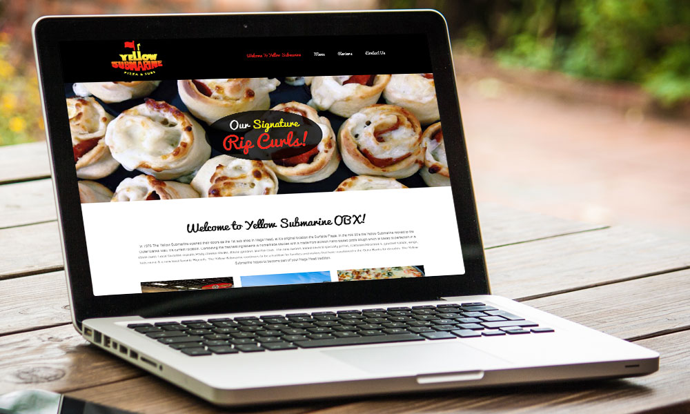 Yellow Submarine OBX responsive website